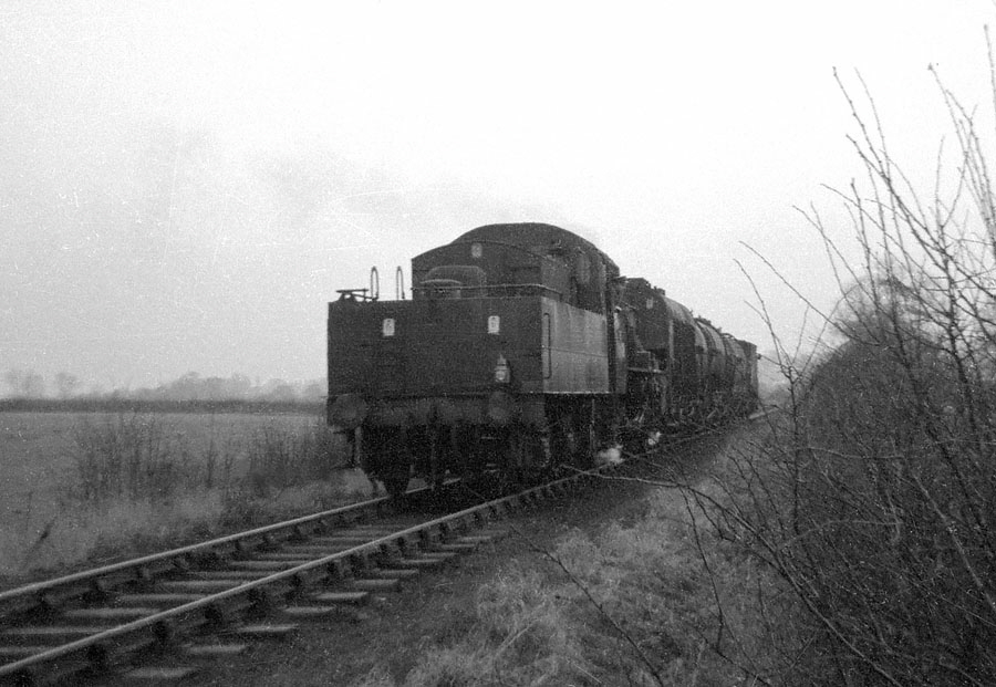 Train from Leicester West Bridge towards Desford Junction near Glenfield on the former Leicester and Swannington Railway.