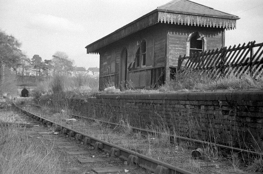 The derelict Glenfield Station, on the ex-Leicester and Swannington Railway.