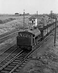 Steam train at Bagworth Colliery sidings