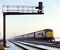 Class 45 with a passenger train