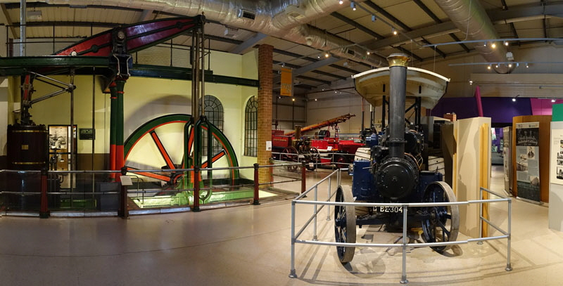 Snibston Discovery Museum Panorama Photograph Gimson Beam Engine